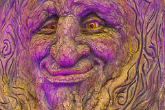 Smile!  Its Friday! (vzonabaxter) Tags: november autumn tree face closeup canon eos lasvegas nevada conservatory bellagio 2011 vzonabaxter