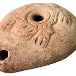 "<b>Oil Lamp</b><br/> Unknown (Egyptian) ""Oil Lamp"" Earthenware, 1100-1200 A.D. LFAC #1994:08:05<a href=""http://farm8.static.flickr.com/7027/6438663061_0440e4bc44_o.jpg"" title=""High res"">∝</a>"