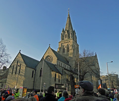 Nottingham Catholic Cathedral (Dunc(an)) Tags: nottingham march cathedral union rally protest strike cuts notts catholiccathedral publicsector nottinghamcathedral canningcircus 30november