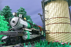Storm Warning (SavaTheAggie) Tags: railroad trees tower water forest train photography track texas power lego state palestine scenic engine trains steam photograph locomotive 500 functions tours ballast 460 tsrr