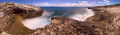 Panorama - Staniel Cay (North Shore) Bahamas (jeffsmallwood) Tags: ocean longexposure panorama moon beach night rocks shoreline rocky cliffs moonlight bahamas exumas stanielcay