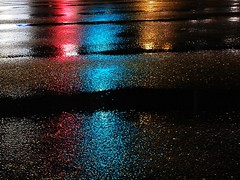 Asphalt Lights (Lens Daemmi) Tags: berlin night lights nacht asphalt regen lichter strase