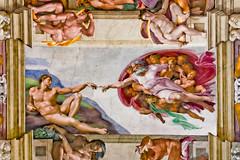Chapelle Sixtine (Matgeekver) Tags: roof italy vatican rome roma canon paint italia chapel peinture michelangelo italie plafond fresque michelange sixtin 450d