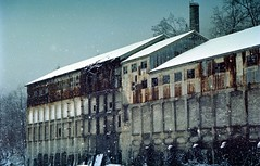 Snow fall on the ruined factory (threepinner) Tags: winter snow japan mine hokkaido north   positive coal tamron  ricoh hokkaidou  selfdevelopment northernjapan xr8  35135mm ikushunbetsu  ponbetsu  gettyimagesjapanq4