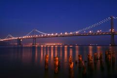 Bay Bridge (mcmillend) Tags: sanfrancisco california longexposure sunset baybridge december2011