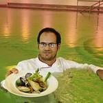 Küchenchef Oberrauter im Pool