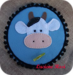 :: Porta-recado Muuuu :: (Luciene Rosi ) Tags: brasil handmade artesanato feitomo cds feltro reciclagem dezembro bordado cdvelho
