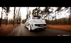 Abarth Punto Evo Esseesse.. (Luuk van Kaathoven) Tags: winter grey punto shot time panoramic rig van arjan evo abarth luuk esseesse luukvankaathovennl autogetest kaathoven bruinstroop