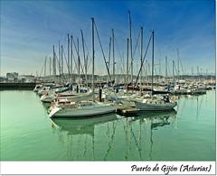PUERTO DEPORTIVO DE GIJN (ASTURIAS) (Sigurd66) Tags: espaa spain barca barco asturias espagne gijon xixon velero asturies cantabrico costaverde principadodeasturias costacantabrica puertodeportivogijon principautredesasturies