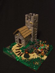 Equinox (Shadow Viking) Tags: food tower church feast table lego shingles thatch vikings equinox shakes moc anglosaxon michaelmas quoins vikingr foitsop longandshort