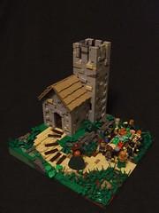 Equinox (Shadow Viking) Tags: food tower church feast table lego shingles thatch vikings equinox shakes moc anglosaxon michaelmas quoins vikingr foitsop longandshort