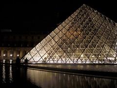 Louvre pyramid [Explore] (Sokleine) Tags: light paris france night pyramid louvre lumière eu 75001 nuit iledefrance pyramide nocturne
