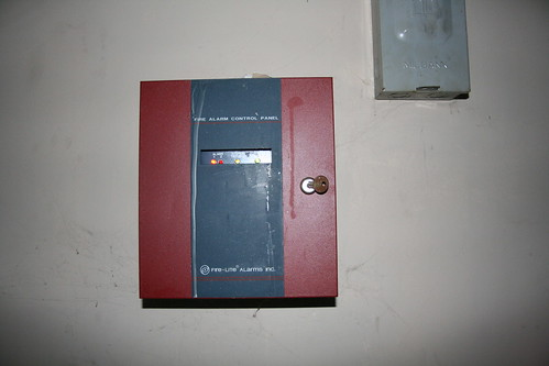 Staff house fire alarm panel is on