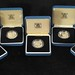 3034. UK (5) Coin Silver £ Proof Set, 1984 - 1988