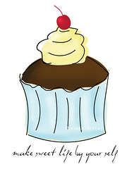 Make sweet life by your self (ShathaAlmotlaq | شذا المطلق) Tags: life make by self sweet your cupcake كيك تفاؤل كب