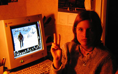 My then-comp (1998-2002) & I.   January 2000   Photo by my dad, probably (ratexla) Tags: life girls people woman me girl computer göteborg person women europe 2000 sweden earth gothenburg chick v human chicks sverige scandinavia puter humans comp scandinavian windows98 vsign compaq 1000views goteborg tellus homosapiens organism dator datorer verticallimit nicholaslea nicklea europaeuropean ratexla photophotospicturepicturesbildbilderfotofotonimageimages