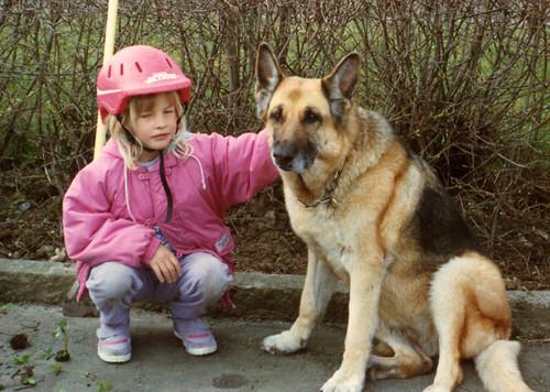(k) Me & Jana, old German shepherd from my neighbourhood | Spring of 1990