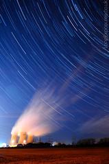 Power Lines II (AndWhyNot) Tags: uk longexposure light night rural stars nikon energy landmark steam pollution didcot powerstation oxfordshire startrails drift lightpollution coolingtowers