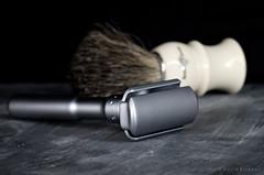 Merkur Futur (David Bicknell) Tags: macro pentax brush sharp shaving shave present slate product razor k5 futur merkur strobist edwinjagger panagor90mm