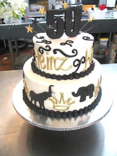 2 Tier Wicked Chocolate Cake Iced In White Butter Icing Decorated