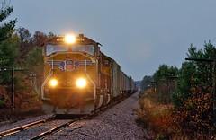 Last Light at Millston (Philip_Martin) Tags: up wisconsin adams pacific sub union line wi altoona subdivision sd70m millston wyeville