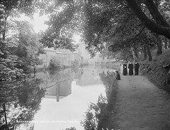 Rampart Walk (National Library of Ireland on The Commons) Tags: trees ireland reflections walking canal women navan 1890s meath leinster robertfrench williamlawrence nationallibraryofireland rampartwalk therampart lawrencecollection