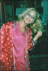 girl_foundphoto (swindlehorne) Tags: pink ohio red portrait girl smile pose hair happy nice robe interior makeup polkadots blonde inside satin pajamas mountvernon pleasant mtvernon knoxcounty