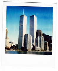 (i threw a guitar at him.) Tags: nyc newyorkcity building history film water skyline architecture skyscraper buildings polaroid lost waterfront towers 911 twin gone historic 80s 70s twintowers hudson tall 1970s 1980s pre911