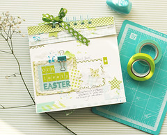 last easter journal (ania-maria) Tags: blue bunny green scrapbooking easter spring child album cyan son run annamaria scrap ils 2011 aniamaria