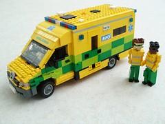UK Mercedes Sprinter Ambulance (1) (Mad physicist) Tags: london mercedes lego ambulance nhs british van figures sprinter
