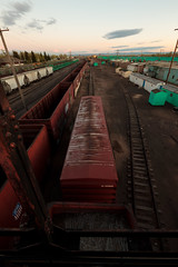 12-28-2011 (whlteXbread) Tags: sunset summer landscape traintracks trains wyoming laramie trainyard dailies sigma1020 t1i faceit365:date=20111228