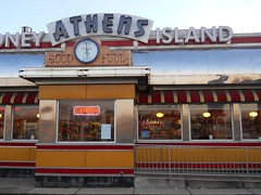 Diner at Sunset (timmerschester) Tags: sunset building michigan diner woodward athensconeyisland