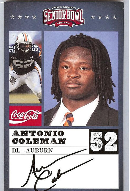 Antonio Coleman Senior Bowl Card