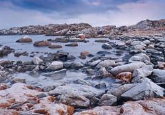 Seascape (Larsenio) Tags: ocean longexposure winter sea seascape norway landscape coast norge vinter rocks skies pentax cloudy himmel coastal getty northern longshutter skyer hav sjø kyst nordisk andøy pentaxk20d