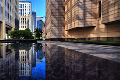 Chicago Inception Style (Seth Oliver Photographic Art) Tags: chicago buildings reflections landscapes iso200 illinois nikon midwest skyscrapers cities cityscapes pinoy johnhancockbuilding cookcounty urbanscapes secondcity windycity chicagoist d90 creativephotography cityofchicago cityofbigshoulders incameracrop aperturef90 fidelitybuilding manualmodeexposure riverwalkchicago setholiver1 circularpolarizers 1024mmtamronuwalens streetervilleneighborhood 1160secondexposure camerasetonbench