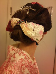 DSC_0631 (Ayilana) Tags: pink japan japanese ivory parasol kimono obi kitsuke kanzashi nihongami