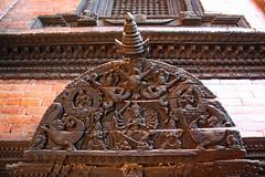 Kumari-ghar Woodwork (Mabacam) Tags: wood nepal carving doorway kathmandu durbar kumari