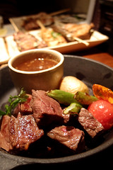 Saikoro Steak @ Zakkushi on Main () Tags: food canada vancouver dinner cuisine japanese bc beef gourmet japaneserestaurant japanesefood zakkushi japanesecuisine zakkushionmain olympusxz1 saikorosteak