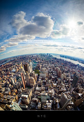 New York (Beboy_photographies) Tags: new york panorama fish newyork eye manhattan pano jour fisheye ciel vue hdr ville contrejour contre aérienne