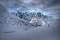 La Meije (schniplik) Tags: winter light sky white mountain snow la nikon wilde meije briancon d90 lautaret