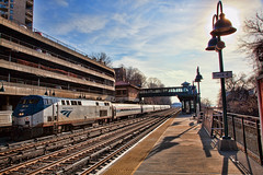 Amtrak (JMS2) Tags: railroad station train tracks glenwood amtrak commute locomotive yonkers metronorth westchestercounty movingtrain