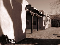 Palace of the President - Santa Fe, NM (LarrynJill) Tags: newmexico santafe building shadows palace picnik
