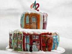 Winter holiday cake (Bety(Bianka Yovcheva-Dimitrova)) Tags: winter art cream dulcedeleche cakefun handmadecake cutedecoratedcakes paintedcakes sugarartandcakedesign honeybiscuitcake luxuryhomemadecakes winterholidaycakes