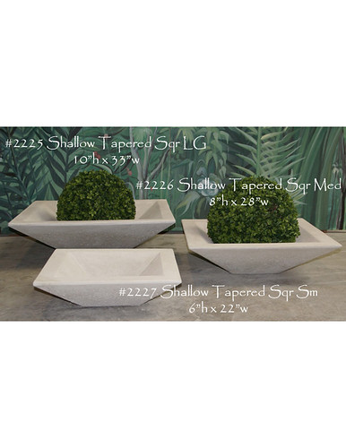 Shallow tapered Square Planter- Alfresco Decor