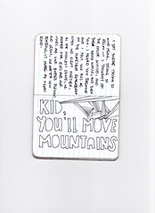 Kid, you'll move mountains (de Noyo) Tags: inspiration lines writing notebook diy personal pages scanner drawing diary journal scan doodle drseuss moleskin
