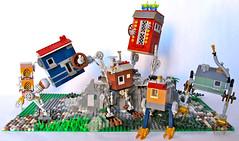 Little Walking Houses (Imagine) Tags: house toy lego steampunk moc littlehouses foitsop walkinghouse