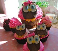 1st Birthday Owl Cupcakes