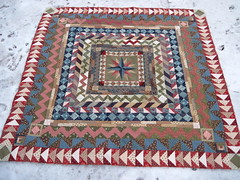 Medallion Quilt~Flying Geese Border (Blue.Ridge.Girl) Tags: quilt medallion roundrobin blueridgegirl bloominworkshop