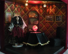 1/12th scale fortune teller's room (weebruins) Tags: miniature tarot 112 fortuneteller dollhouse crystalball ouija dollshouse tasseography tealeaves roombox oneinchscale 112scale maisondepoupes 112thscale dollhouseminiature ceromancy tealeavesreading scaledollhouseminiature scaleminiature teammids weebruins fortunetellersroom candlewaxreading waxreading