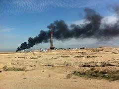 Tyre Burning, Basrah, Iraq
